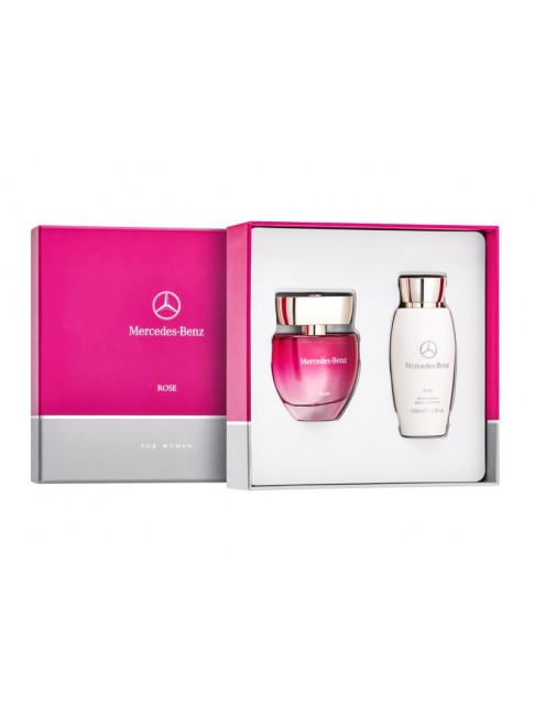 Parfums Mercedes-Benz Rose, Jeu de 2, 60 ml